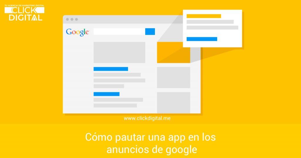 Cómo pautar una app en los anuncios de google