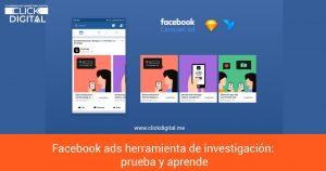 Facebook ads herramienta de investigación: prueba y aprende