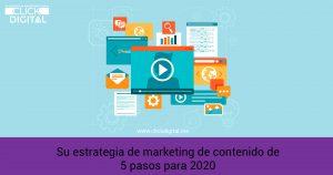 Su estrategia de marketing de contenido de 5 pasos para 2020